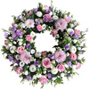 Loose Wreath in Lilac and Pink